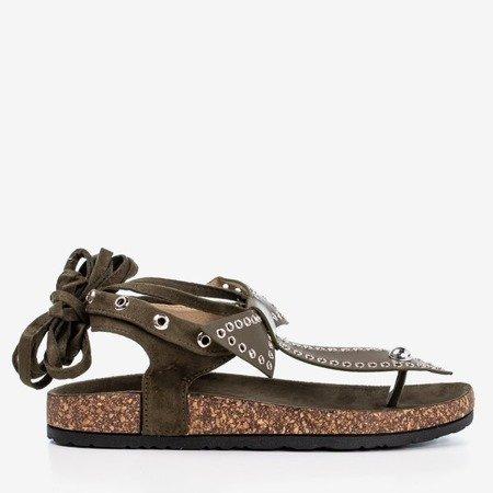 Green sandals tied Celione - Footwear