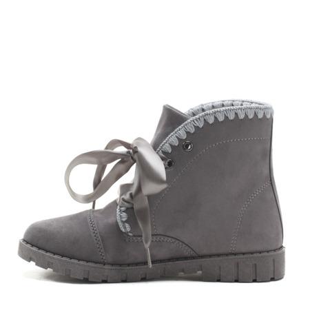 Grey suede ankle boots Nurecia - Footwear