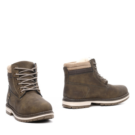 Insulated khaki Rylie boots- Footwear