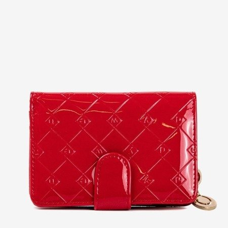Lacquered small women's wallet in red - Wallet