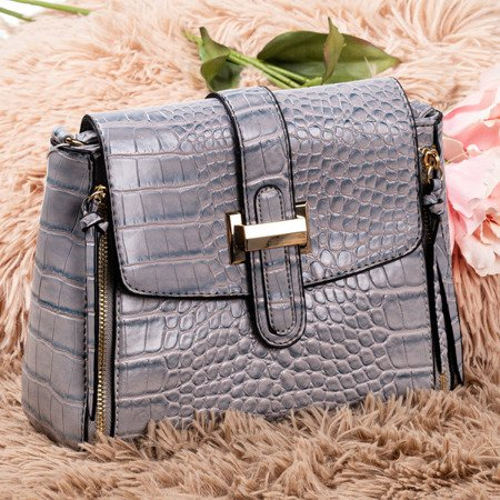 Ladies' gray shoulder bag - Handbags