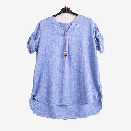 Light blue women's classic tunic - Blouses 1