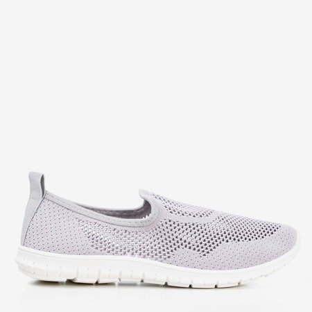 Light gray women's slip-on Boreia sports shoes - Footwear 1