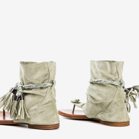Light green flip-flops with Semara shank - Footwear