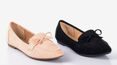 Light pink loafers with a bow Sweet Nothing - Footwear 1