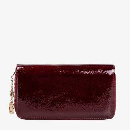 Maroon lacquered women's wallet - Wallet