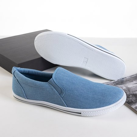 Men's blue slip on Orian denim sneakers - Footwear