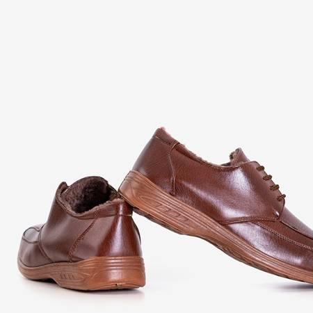 Men's brown warm low boots by Gordon - Footwear