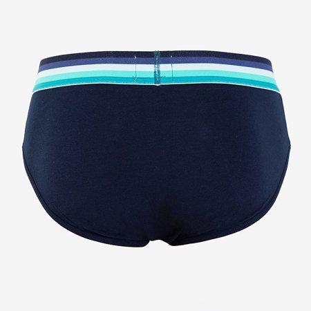 Men's navy blue panties, briefs - Underwear
