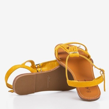 Mustard sandals with fringes Minikria - Footwear