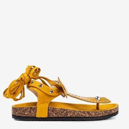 Mustard tied sandals Celione - Footwear