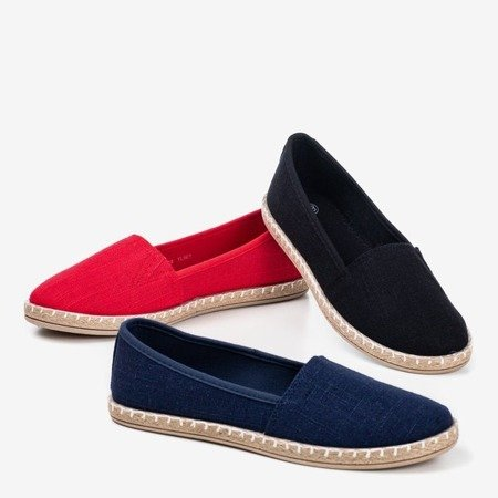 Navy blue espadrilles from Marenda fabric - Footwear 1