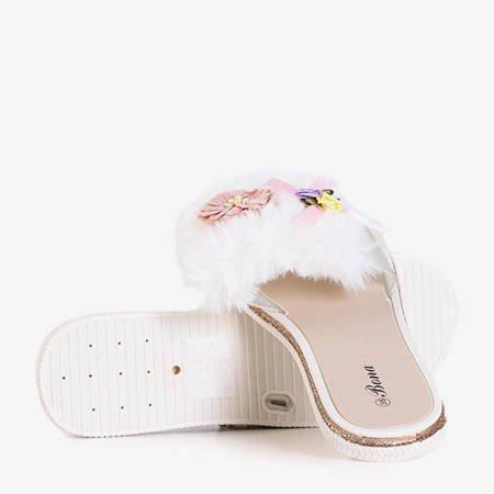 Neil's white women's fur slippers - footwear