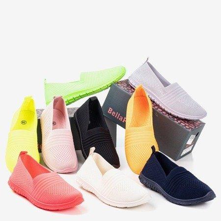Neon green women's slip-on sneakers Colorful - Footwear 1