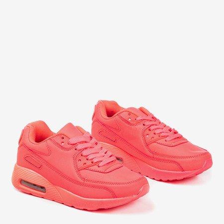 Neon pink Isadora girls sneakers - Footwear 1