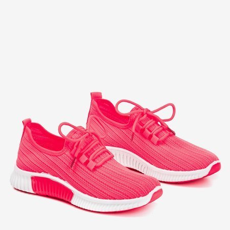Neon pink Nomnel women's sports shoes - Footwear 1