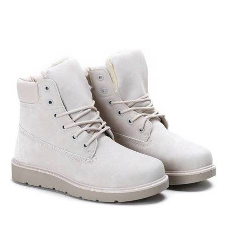 OUTLET Be Happy, beige, insulated hiking boots - Footwear