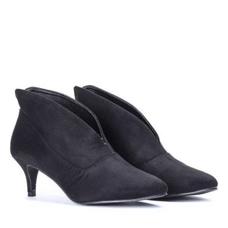 OUTLET Black boots on a low heel Get Rhythm - Footwear