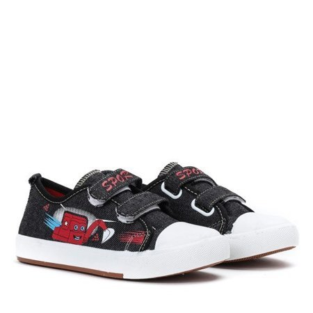 OUTLET Black boys' sneakers Boob - Footwear
