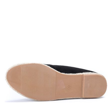 OUTLET Black espadrilles with a Borneo patch - Footwear