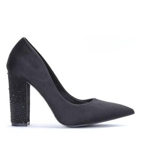 OUTLET Black pumps on the Kaliyah post - Footwear