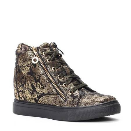 OUTLET Black wedge sneakers Asellienoe - Footwear