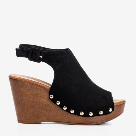 OUTLET Black women's sandals on the wedge Izida - Shoes