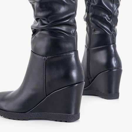 OUTLET Black women's wedge boots Abiela - Shoes