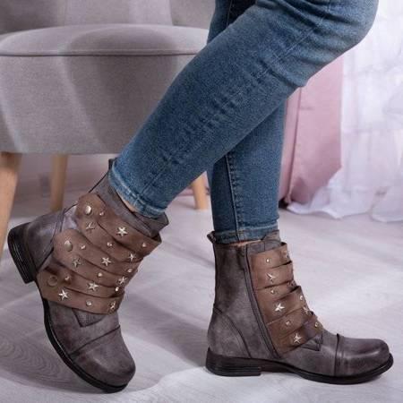 OUTLET Brown Livija bags with stars - Footwear