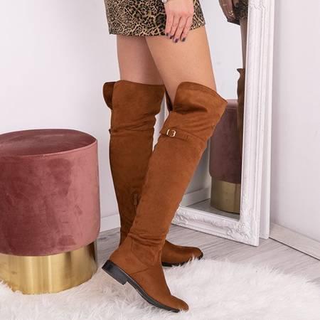 OUTLET Brown boots Tanija- Footwear