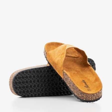 OUTLET Brown women's slippers by Ratia - Shoes