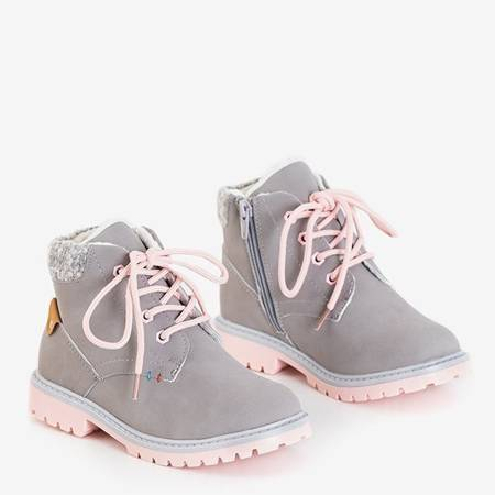 OUTLET Gray girls' insulated Tiptop boots - Shoes