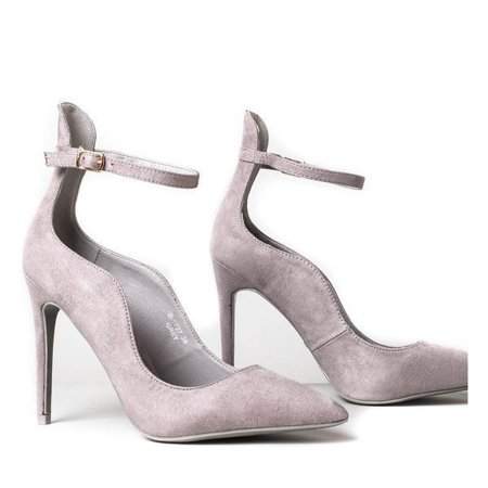 OUTLET Gray high-heeled stilettos Batya - Shoes