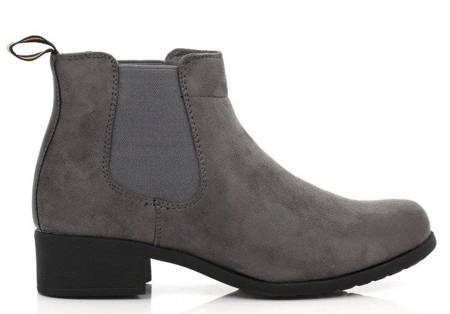 OUTLET Gray, suede boots - Shoes