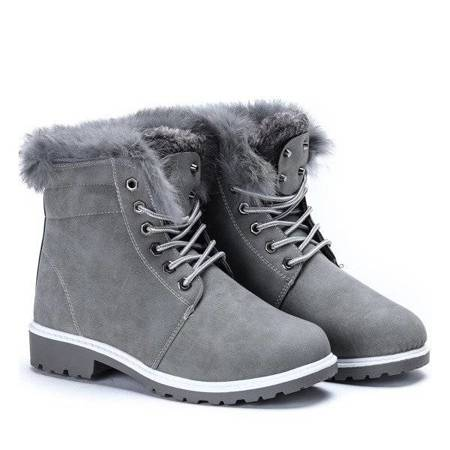 OUTLET Gray warm boots Catalina - Footwear