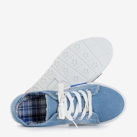 OUTLET Motia blue denim women's sneakers - Footwear