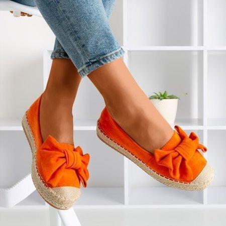 OUTLET Orange espadrilles with a Giti bow - Shoes