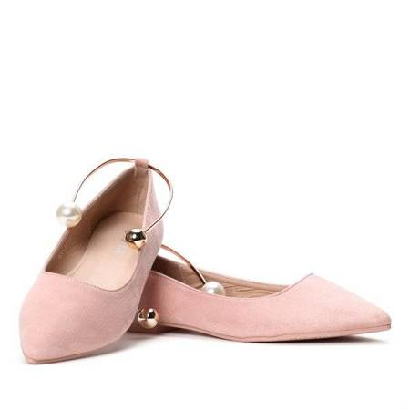 OUTLET Pink ballerinas made of eco-suede - Shoes