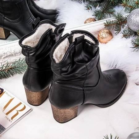 OUTLET Vincenza black warm cowboy boots - Footwear