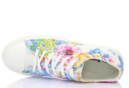 OUTLET White lace-up sneakers - Footwear