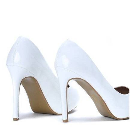 OUTLET White pumps on a pin Mira - Shoes