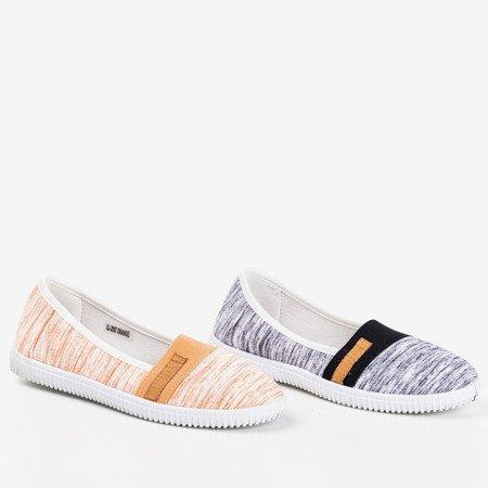 Orange slip - on sneakers with stripes Arimida - Footwear