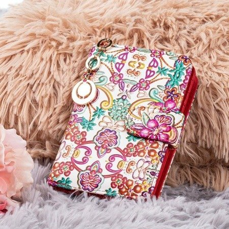 Patterned small red wallet - Wallet