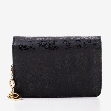 Patterned small women's wallet in black - Wallet 1