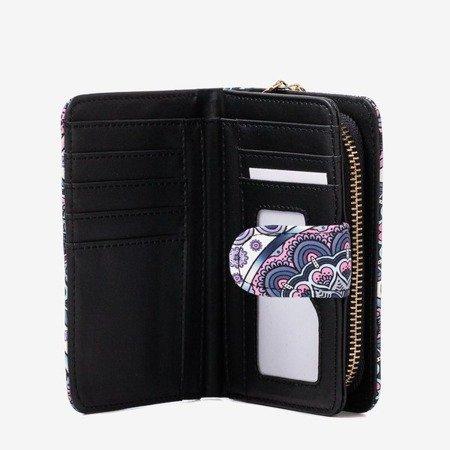 Patterned small women's wallet in purple - Wallet
