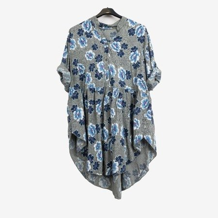 Patterned tunic for women in khaki color - Blouses 1