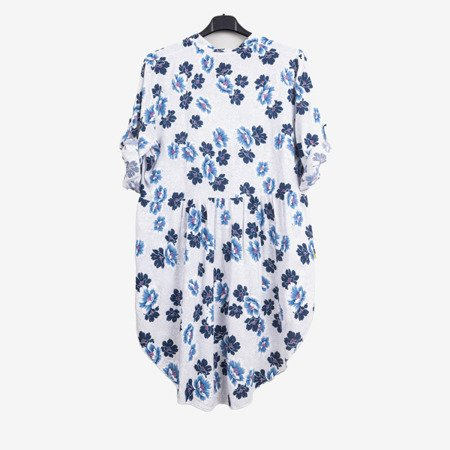 Patterned tunic for women in white - Blouses 1