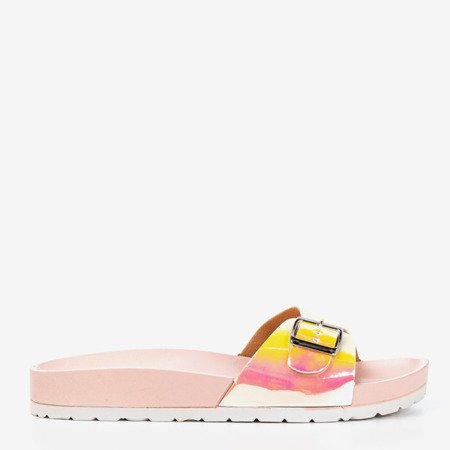 Pink flip-flops with holographic finish Sabia - Footwear 1