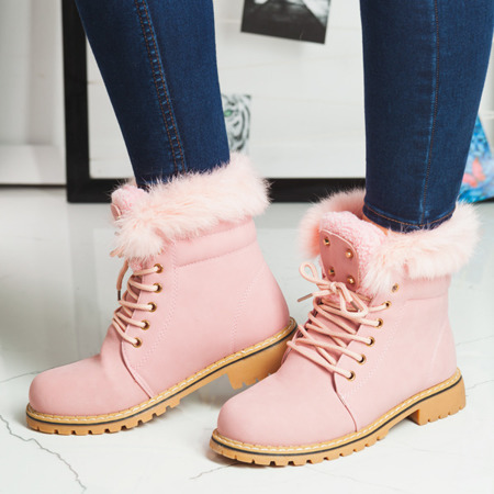 Pink insulated Shira hiking boots - Footwear