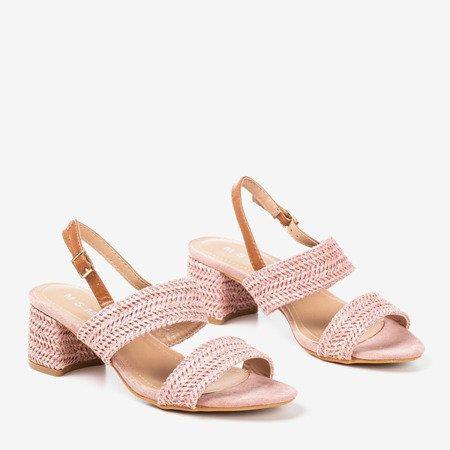 Pink low heel sandals Riota - Footwear
